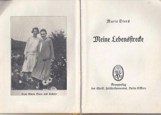 """Marie Diers, Titelblatt von """"Meine Lebensstrecke"""""""