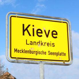 Ortsschild Kieve