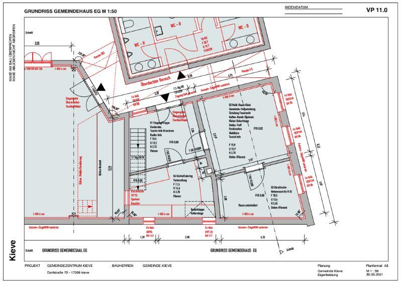 Grundriss EG - Gemeindehaus