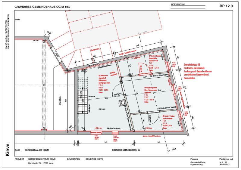 Grundriss OG - Gemeindehaus